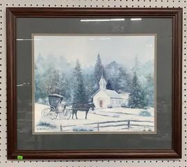 C. Smith Winter Chapel Framed Art 28.5x24.5