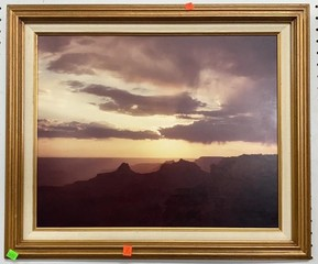 Gold Framed Photo On Board 25x21