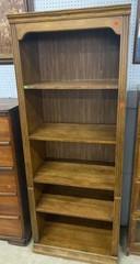 5 Shelf Wooden Bookcase 30x18x77