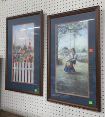 2 Pcs Of Art: Framed And Signed Glynda Turley