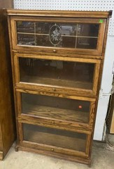 4 Section Glass Doors Lawyers Cabinet 32x13x57.5