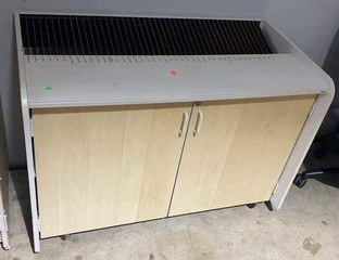 Two Door With Dividers On Top Rolling Cabinet 49x