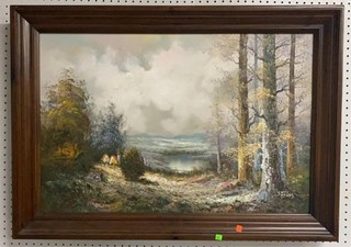 Oil On Canvas Painting Singed Scott Myers In Frame