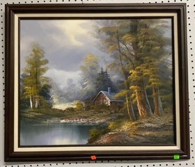 Oil On Canvas Signed And Framed 28.5x25 See Photos