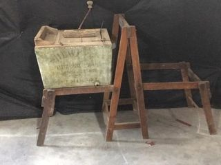 Antique Washer and Wringer Stand