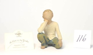 Willow Tree Figurine - Title is Inquisitive Child