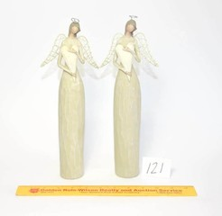 (2) Angel Figurines - Made by Ganz