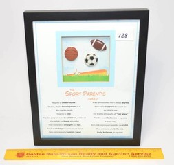 Ganz Brand - Sport Parents Creed - Framed