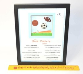 Framed Sports Parents Creed