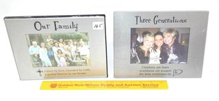 (2) Treasured Memories by Ganz - Picture Frame -