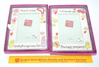 (2) Russ Picture Frames - One is Friends are the
