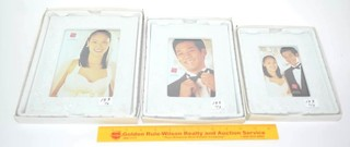 (3) Russ Brand Wedding Picture Frames
