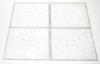 (4) Wedding Memory Books by Russ