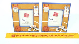 (2) Russ Basketball Picture Frames