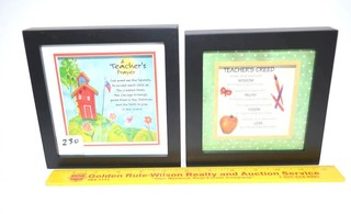 (2) Framed Shadowboxes by Ganz - A Teachers