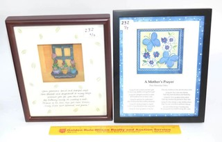 Shadowbox Poem - A Mothers Prayer & another