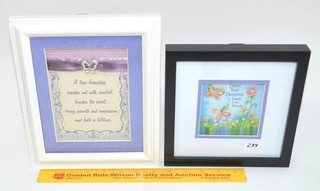 Couple of Shadowbox Type Decorative Framed Pieces