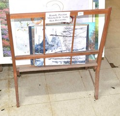 Wooden Print Display Stand - Measures 30 1/2 T x