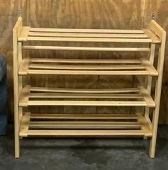 Wooden Shoe Rack Shelf