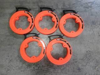 1 Case - Klein Tools 25 ft. Wide Steel Fish Tape (5 per Case) 56335