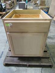 Hampton Bay Assembled 24x34.5x24 in. Base Kitchen Cabinet in Unfinished Beech KB24-UFDF