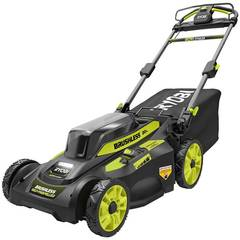 Ryobi 20 in. Brushless Cordless Walk Behind Self-Propelled Lawn Mower with Charger Included RY401120-Y