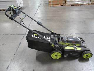 Ryobi 20 in. 40-Volt 6.0 Ah Lithium-Ion Battery Brushless Cordless Walk Behind Self-Propelled Lawn Mower RY401120-Y