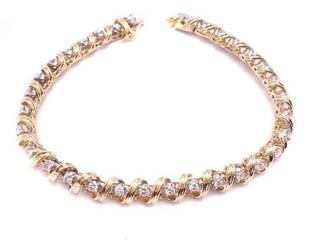 Upscale ~2 Carat Diamond Estate Tennis Bracelet in 14k White Gold; $5400