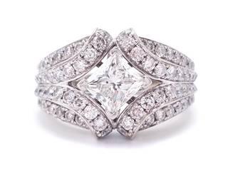 2+ Carat Diamond Estate Ring in 14k White Gold; IGI Certified $16,500