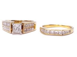 2.09 Carat Diamond Estate Ring Set in 14k Yellow Gold