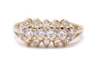 High Grade .80 Carat Diamond Cluster Estate Ring in 14k Yellow Gold; $3100 Appraisal Included
