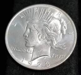 1923 PEACE SILVER DOLLAR BU-UNC