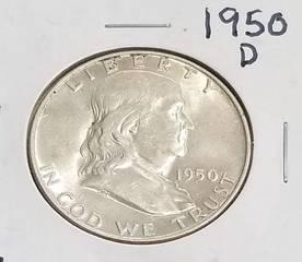 1950-D FRANKLIN HALF DOLLAR BU-UNC
