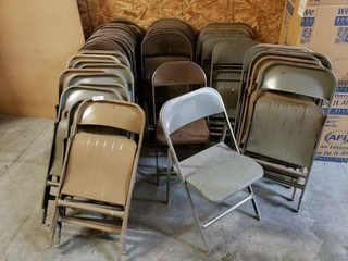 Large Lot of Metal Folding Chairs