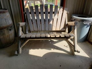 Wood Rocking Bench