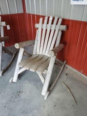 Pair of Wood Rocking Chairs