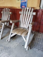 2 Wood Chairs & Rocker