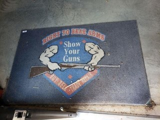 """""""Right to Bear Arms"""" Floor Mat"""