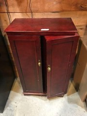 Blind Door Storage Cabinet & Contents