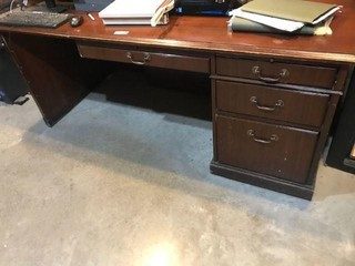Kimball Desk & L-Shaped Credenza