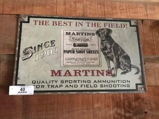 Martins Ammunition Metal Sign