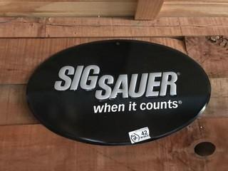 Sig Sauer Metal Sign & Banner