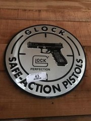 Metal Glock Pistols Sign