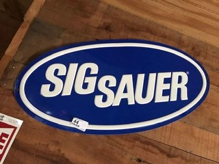 Metal Sig Sauer Sign