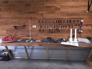 Archery Supplies, Wall Rack & Miscellaneous