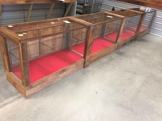 4 Section Display Cabinets/Showcases