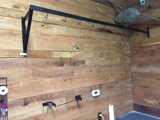 Metal Wall Rack w/10 J Hooks