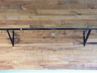 Iron Wall Rack w/10 J Hooks