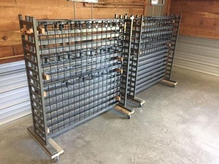 2 Metal Rolling Display Racks