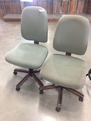 Pair of Adjustable Office Chairs